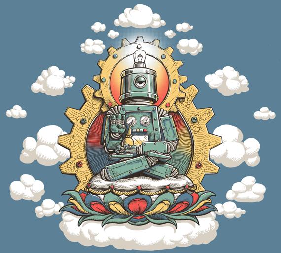 Buddha Bot by John Sumrow http://www.johnsumrow.com/2011/01/25/buddha-bot-v-6-0-done/